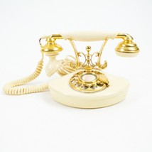Vtg Hamiltone Rotary Phone Gold Prob 80s does the 20s Victorian Antique ... - $167.12
