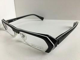 New Vintage ALAIN MIKLI A 0474 17 52mm Black Semi-Rimless Women Eyeglass... - $399.99