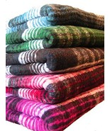 Brushed Plaid Yoga Blanket Used for Svaroopa Yoga (Green) - $34.60