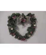 Heart Wreath, Artificial Wreath with Hearts, Heart Shaped Decoration - $20.00