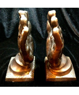 Collectible Vintage Bronze Brass PRAYING HANDS BOOKENDS  Heavy - $40.00