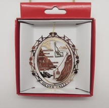 Silver Falls Idaho Ski Town Brass Ornament Travel Souvenir - $13.95