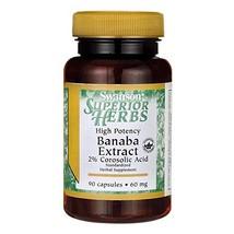 Swanson High Potency Banaba Extract 2% Corosolic Acid 60 Milligrams 90 Capsules