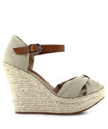 Ceresnia women's espadrille open toe wedge sandals - £28.41 GBP