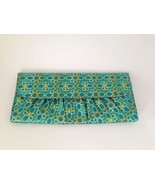 CHI Straightener Teal and Gold Clutch Envelope Evening Bag Purse 11.75 X... - $10.70