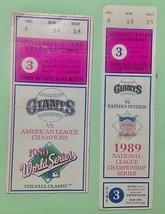 1989 World Series Ticket Earthquake-halted Game 3 & NL Playoffs rain del... - $108.90
