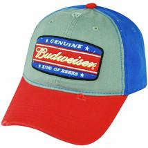 Budweiser Men's Vintage Distressed Genuine King of Beers Cotton Snapback Hat Cap