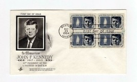FDC ENVELOPE- IN MEMORIAM: JOHN F. KENNEDY 4BL-1964 ART CRAFT CACHET BK13 - $2.94