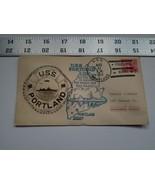 Home Treasure Postal Cover Envelope 1934 Postmark USS Portland ME Ship B... - $9.49