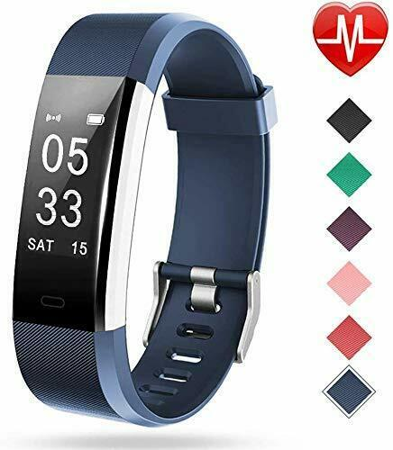 Primary image for Fitness Tracker with Heart Rate Monitor, Activity Tracker with blue