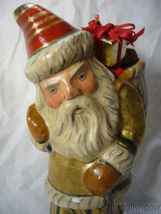 Vaillancourt Folk Art Santa Delivery Golden Gifts Personally Signed by Judi image 5