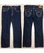 True Religion Billy Super T Relaxed Jeans Men's Size 38 Distressed Dark ... - $97.02