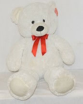 Fiewsta Toys Giant Stuffed White Cuddle Bear 38 Inches Ages 3 Plus image 1