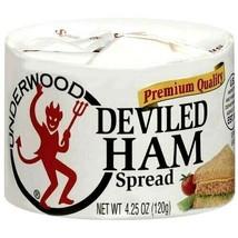 Underwood Premium Quality Deviled Ham Spread 4.25 oz ( Pack of 12 ) - $39.11