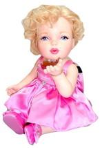 Franklin Mint Marilyn Monroe Porcelain Baby Doll Pink Diamonds NEW Jewel... - $194.95