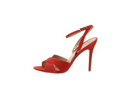 Sam Edelman Aly Suede Ankle-Strap Dress Sandal CANDY RED 7.5 NEW 597-250 - $55.42
