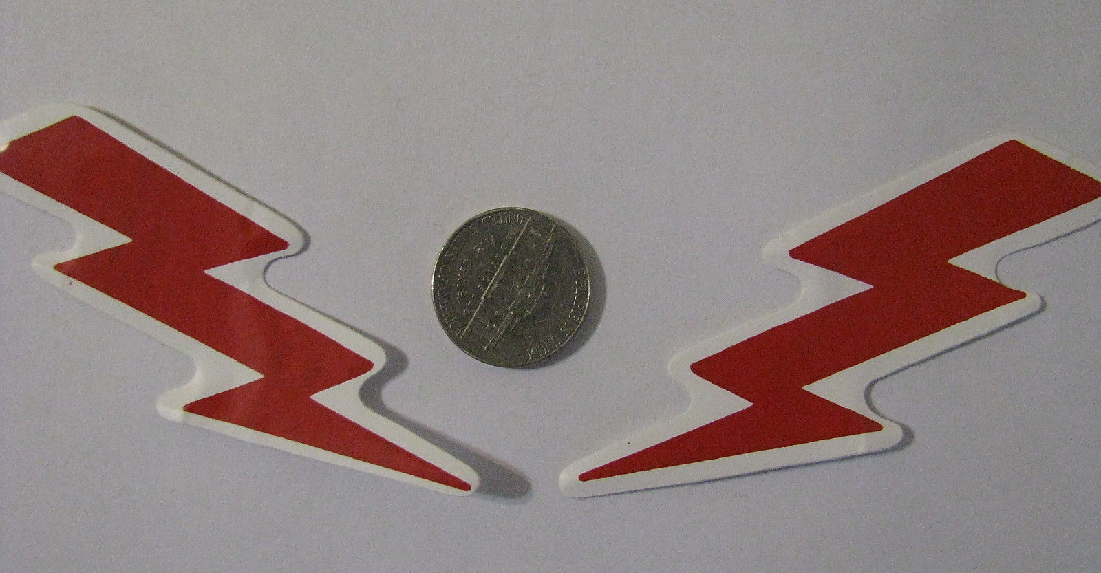 Primary image for Right & left facing decals cute Rebel lightening bolts facing right and left