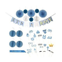 Baby Shower Decorations for a Boy | 'IT'S A BOY' Gold Foil Lettered Bann... - ₨2,199.94 INR