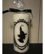 Witch Silhouette Pillar Candle - $8.75