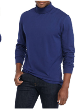 NWT Saddlebred Soft  Motion Stretch Fabric L/S Turtle Neck XL NavyMsrp. ... - $12.19