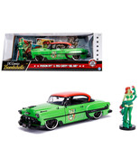 1953 Chevrolet Bel Air Green and Red Top with Poison Ivy Diecast Figure ... - $48.85