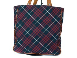 Auth Burberry London Blue Label Canvas Leather Red Tote Bag BT0413 - $169.00