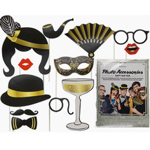 New Years Eve Party Photo Booth Props Wedding Glamour Party Props Xmas P... - $3.81