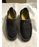 Crocs 10128 Santa Cruz Black / Tan Canvas Loafer Mens 9,  - $23.03