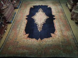 11x17 Navy Blue Handmade Open Field Durable Fine Original Persian Rug image 4