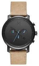 MVMT Watches | Men's | Gunmetal Sandstone Leather | Chrono Series | 45mm - $105.00