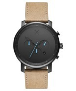 MVMT Watches | Men's | Gunmetal Sandstone Leather Chrono | 45 MM | 30% off - $94.00