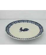 Folk Craft Tienshan  – Dinner Plate – Sponge Blue Rooster  - $8.50