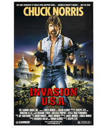 chuck norris INVASION USA movie poster ACTION martial arts star 24X36 rare - $18.00