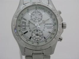 Seiko mens watches tachymeter chrono stainless steel special dial design... - $133.18