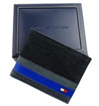 Tommy Hilfiger Men's Leather Canvas Credit Card Wallet Billfold Navy 31TL22X050 image 12