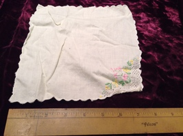 Assorted Lot of Antique Napkins in Various Colors/Sizes/Designs Some Applique  image 5