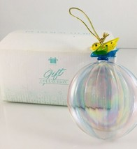 AVON GLASS SUN CATCHER BUTTERFLY GIFT ROUND RAINBOW COLORS STRIPED - €10,81 EUR