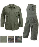 Vietnam Jungle Fatigues Military Uniform Vintage Army BDU Ripstop Tactic... - $40.99+