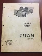 Cushman Titan Electric Parts Book Manual Wiring Diagram (17-959Q) - $23.71
