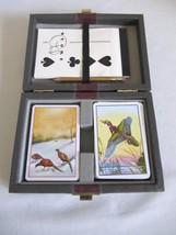 Piatnik Vienna Austria Bridge Playing Card Set W Case Pheasant & Duck Design - $8.95