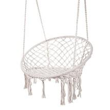 Techcell Hammock Chair Macrame Swing,Cotton Hanging Macrame Hammock Swin... - $62.79