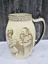 Royal Doulton Brown and White Motto Pitcher Speed the Parting Guest - $143.55