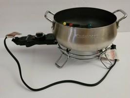 Cuisinart Electric Fondue Pot Maker Set Stainless Steel 3 Quart - $37.04