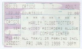 Harlem Globetrotters 1/23/98 Ticket Stub! Houston, TX Compaq Center Summit - $1.97