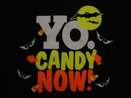 Vintage Halloween Yo. Candy Now! Black Cotton T Shirt Size XL - $17.81