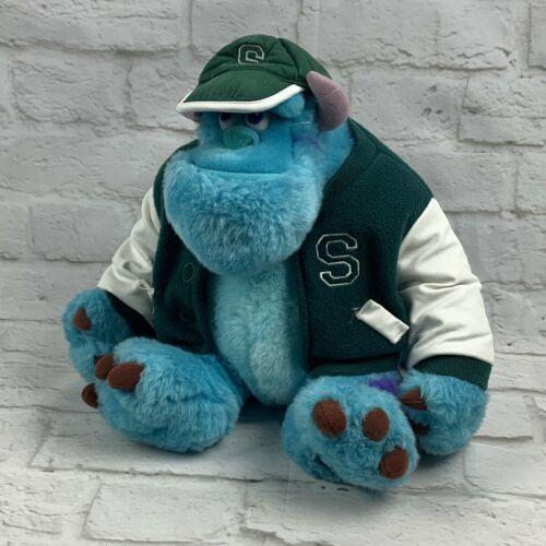 "Monsters Inc. 12"" Sully Plush w/ Varsity Jacket Disney Store Genuine Original"