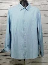 G-STAR Raw Mens Blue Denim L/S Button Down Core Shirt Size: XXL