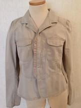 Ann Taylor LOFT lightweight Washable Unlined Cotton Khaki JACKET Ms Sz 8 -10 EUC - $14.73