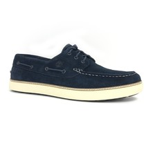 Timberland Men's Earthkeepers Hudston Moc Toe Navy Suede Boat Shoes 9668A - $78.02 CAD