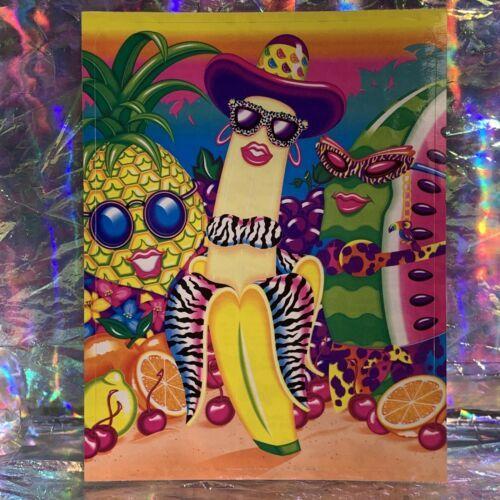 "Vintage Lisa Frank JUMBO FABULOUS FRUIT Oversized Sticker (about 5x6.5"") Minty"